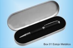 BOX 01 ESTOJO METÁLICO